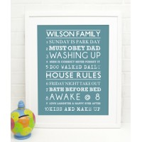 10 Family Rules Print